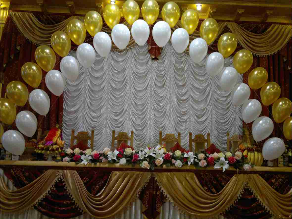 Оформление свадебного зала шарами shargel.by