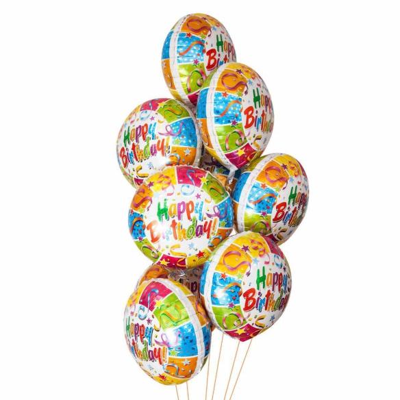 """Сэт """"День рождения фольгированные шары""""-shargel.by"""