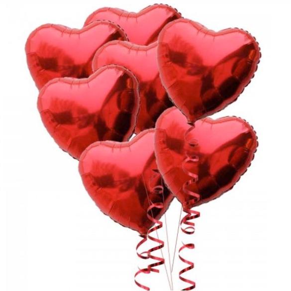 """Сэт """"Фольгированные сердца""""-shargel.by"""