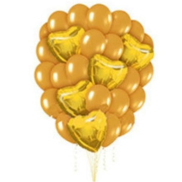 "Сэт ""Золотые шары и сердца""-shargel.by"
