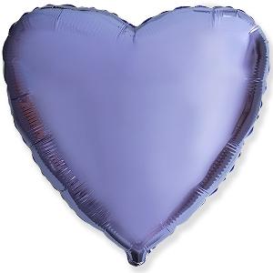 """Шар фольгированный """"Сердце, цвет Lilac"""" shargel.by"""