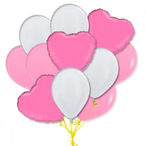 """Сэт """"Бело-розовая гамма сердца""""-shargel.by"""