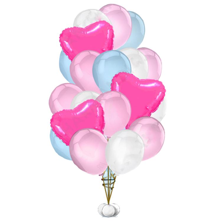 "Сэт ""Бело-розово-голубая гамма и яркие сердца""-shargel.by"