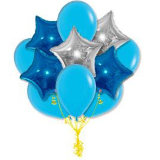 "Сэт ""Голубые шары и звезды"" shargel.by"