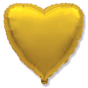 """Шар фольгированный """"Сердце, цвет Золото"""" shargel.by"""