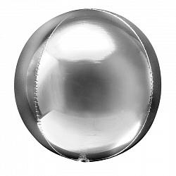 Шар Сфера 3D, цвет Серебро shargel.by