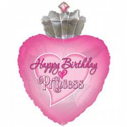 С днем рождения Принцесса  Розовый shargel.by