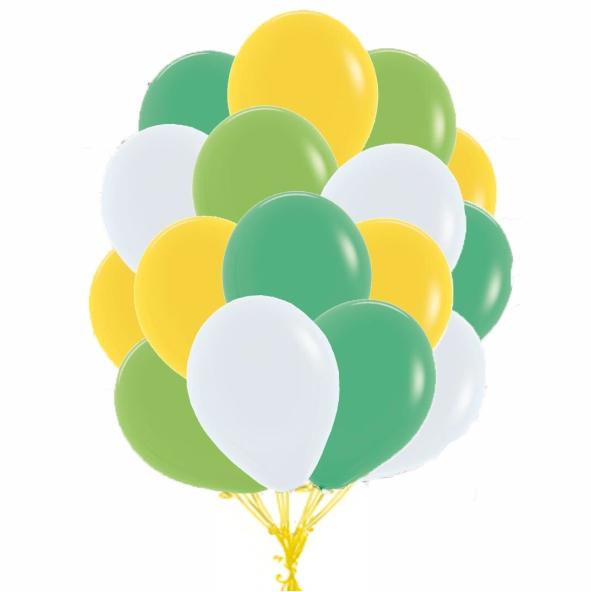 """Сэт """"Бело-зелено-желтая гамма"""". гамма-shargel.by"""