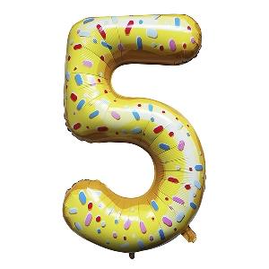 Цифра 5 Пончик shargel.by