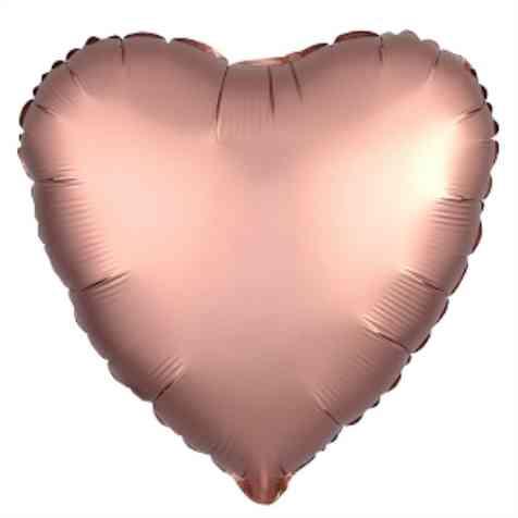 Шар фольгированный СердцеROSE GOLD