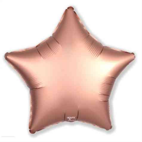 Фольгированная звезда, ROSE GOLD