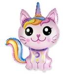 Кот Единорог розовый shargel.by