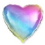 Шар фольгированный Сердце радужное shargel.by